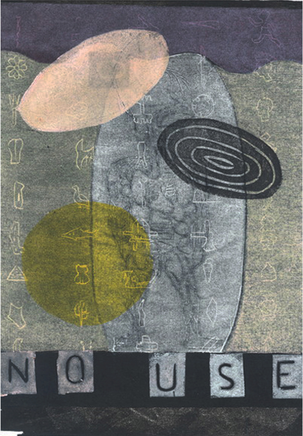 No use. 21 x 30. 1/1 Woodcut. 2007. 2000 DKK / 270 EUR